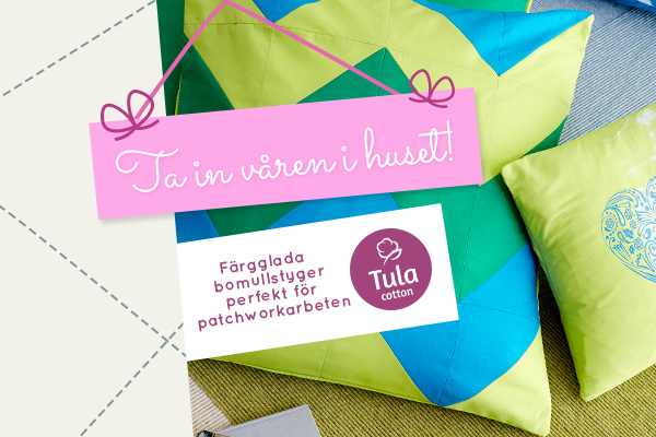 Bomullstyger i våriga färger - upptäck Tula Cotton