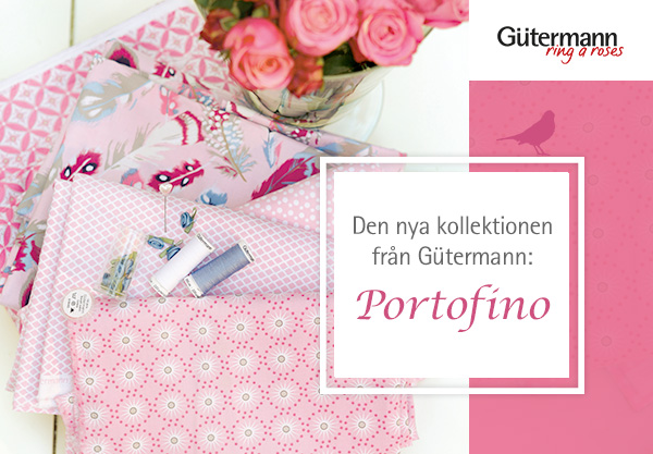 Portofino - den nya kollektionen från ring a roses by Gütermann nu på tyg.se