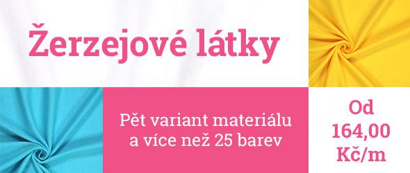 Žerzejové látky ve více než 25 barvách na latka.cz