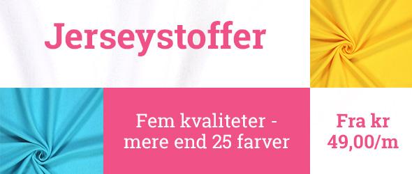 Jerseystoffer i mere end 25 farver hos stofkiosken.dk
