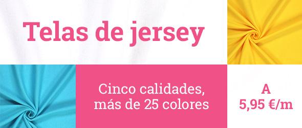 Telas de jersey en más de 25 colores en telas.es