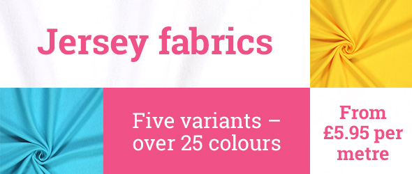 Jersey fabrics in over 25 colours at myfabrics.co.uk