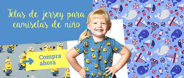 Telas de jersey con diseños que encantarán a los niños, en telas.es