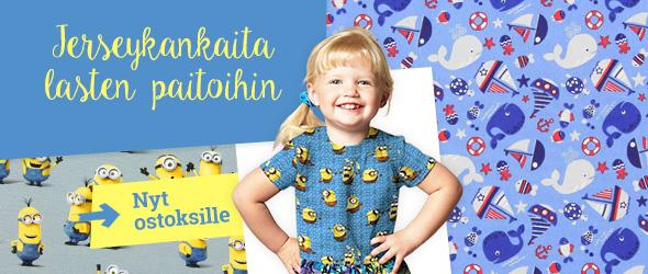 Jerseykankaita aiheilla, joista lapset pitävät - kankaita.comissa