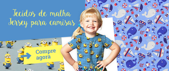 Tecidos de malha Jersey com desenhos que agradam às crianças - na tecidos.com.pt