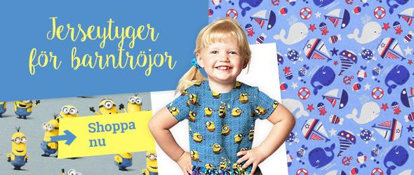 Jerseytyger med motiv som barn tycker om - på tyg.se