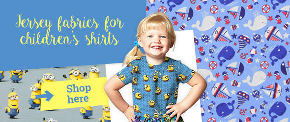 Jersey fabrics with motifs that children love - at myfabrics.co.uk