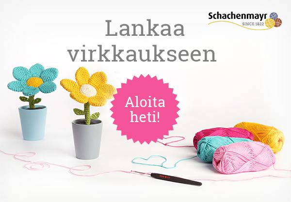 Puuvillalankaa virkkaukseen - monia värejä kankaita.comissa