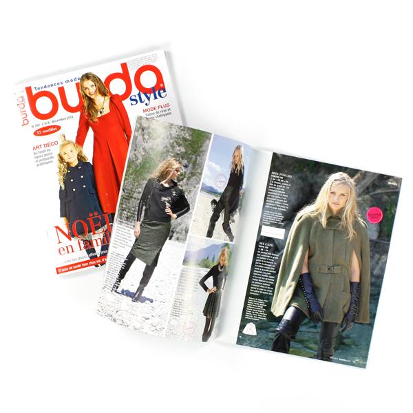 Aujourd'hui dans le calendrier de l'avent : 5 x 1 exemplaire « burda style »