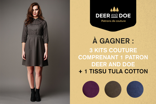3 kits couture Deer and Doe & Tissus.net à gagner !