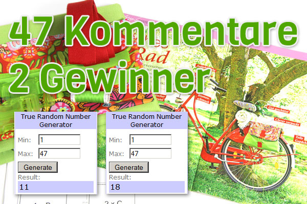 Gewinner des Nähpakets Fahrradtasche von stoffe.de