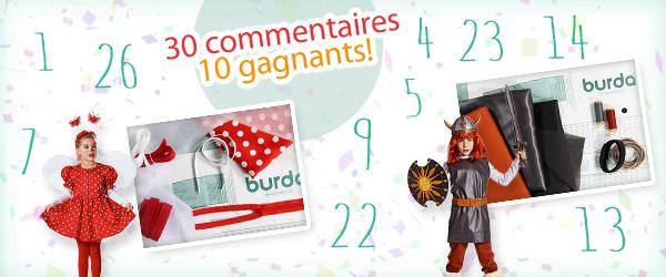 Les gagnants des dix ensembles de couture pour le Carnaval chez tissus.net