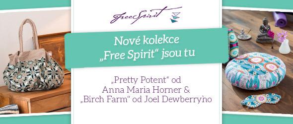 Barevné a zvláště kvalitní - nové bavlněné materiály kolekcí Free Spirit