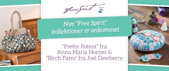 Festlige farver og særlig eksklusivt - nye bomuldskvaliteter i Free Spirit kollektionen.