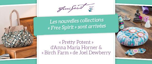 Colorées et haut de gamme - les nouvelles qualités de coton des collections Free Spirit