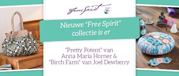 Kleurrijk en van zeer goede kwaliteit - nieuwe katoenkwaliteiten van de Free Spirit- collectie.