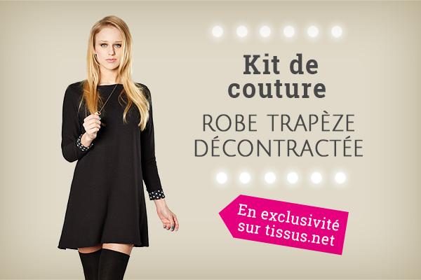 Nouveau : kit couture pour robe trapèze noire !