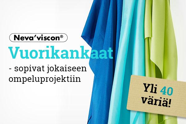 Nyt kankaita.comissa: Neva'visconin merkkivuorikankaat