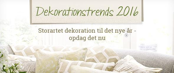 Opdag dekorationstrends 2016 hos stofkiosken.dk - din ekspert i tekstiler og metervare