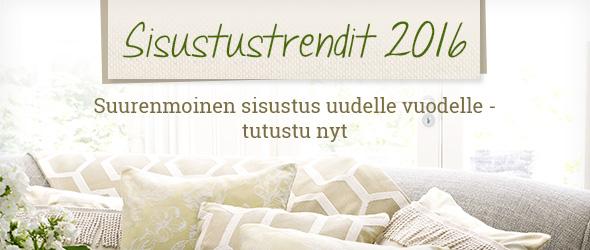 Tutustu sisustustrendeihin 2016 kankaita.comissa - tekstiilien ja metritavaran asiantuntijasi luona