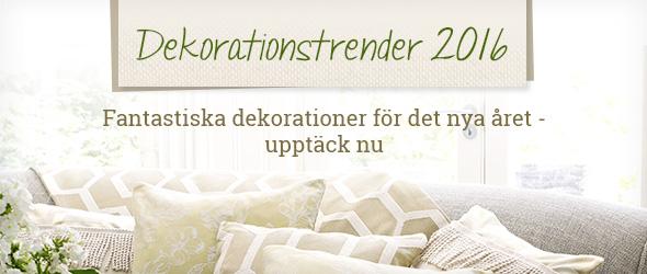 Upptäck 2016 års dekorationstrender på tyg.se - din expert på textiler och metervara