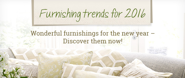 Discover furnishing trends for 2016 at myfabrics.co.uk – your textiles and piece goods expert