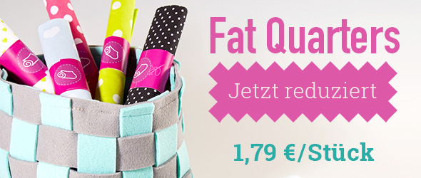 Für Patchwork und kleine Projekte: Fat Quarters im Angebot bei stoffe.de