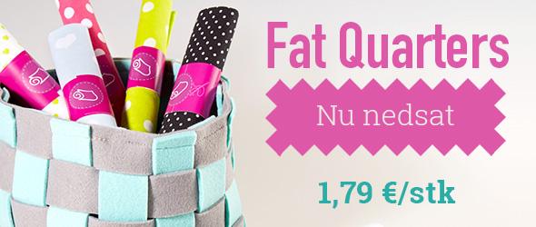 Til patchwork og små projekter: Fat quarters på tilbud hos stofkiosken.dk