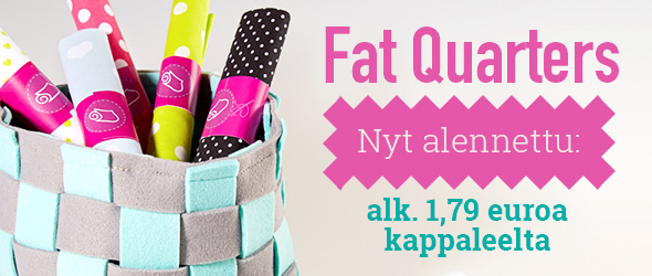 Tilkkutöille ja pienille töille: Fat Quarters -kankaat tarjouksessa kankaita.comissa