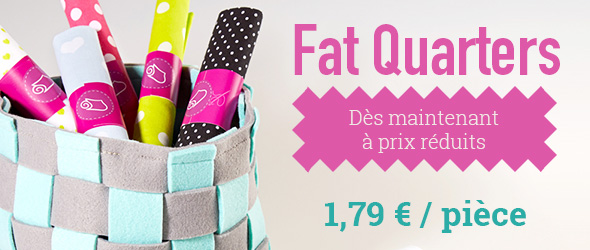 Pour le patchwork et les petits projets : Fat quarters dans l'offre de tissus.net