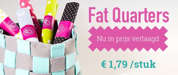 Voor patchwork en kleine projecten: Fat Quarters in de aanbieding bij stoffen.net