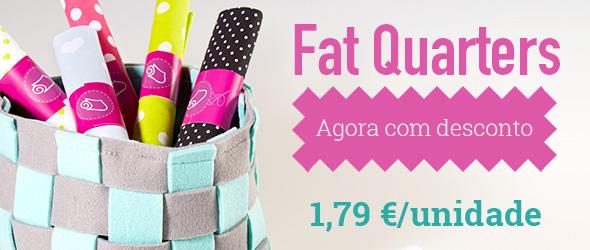 Para patchwork e pequenos projetos: Tecidos Fat Quarters em oferta na tecidos.com.pt