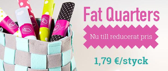 För patchwork och små projekt: Kampanj på Fat Quarters på tyg.se
