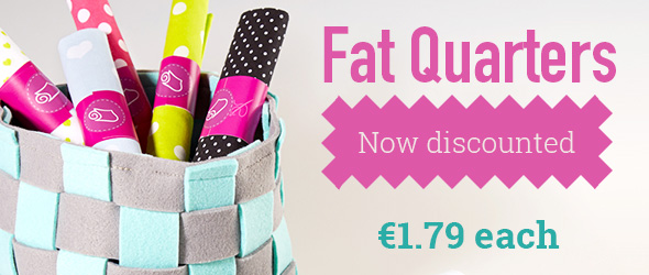 For patchwork and small-scale projects: fat quarters in the myfabrics.co.uk range