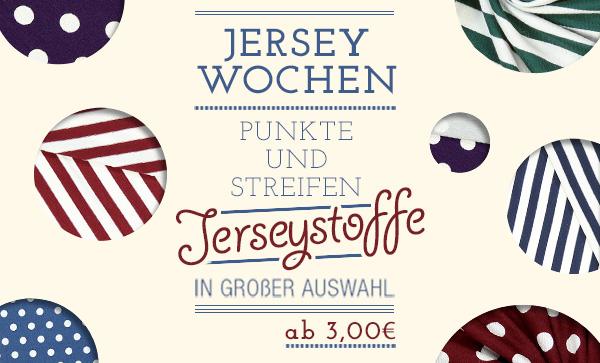 Jerseywochen: Punkte- und Streifen- Jerseystoffe in großer Auswahl