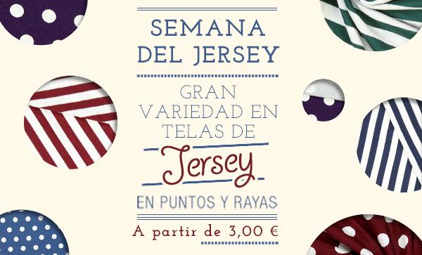 Semana del jersey: Gran variedad en telas de jersey en puntos y rayas