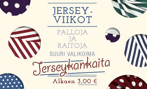 Jerseyviikot: Palloja ja raitoja – suuri valikoima jerseykankaita