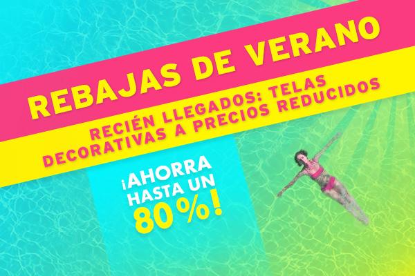Novedades en telas.es: Telas decorativas a precios reducidos en las rebajas de verano