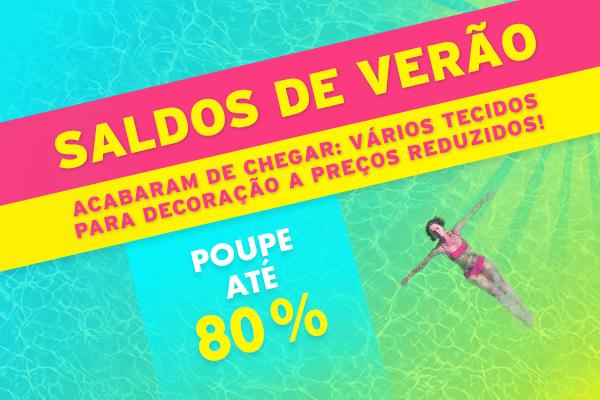 Novidade na tecidos.com.pt: Tecidos para decoração a preços reduzidos nos saldos de verão