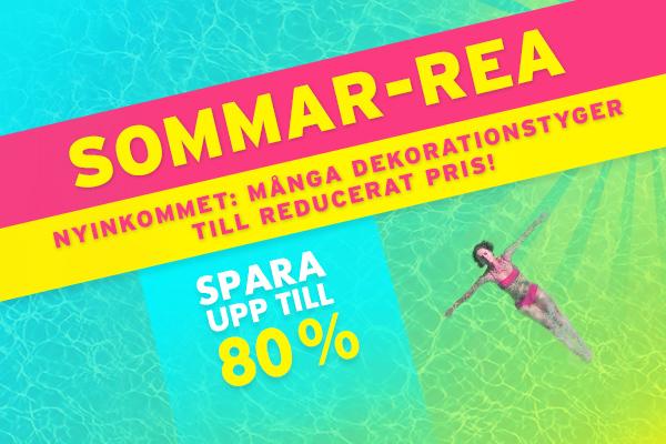 Nytt på tyg.se: Dekorationstyger till reducerat pris i vår sommar-REA