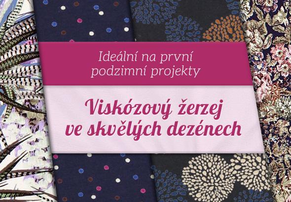 Novinky na latka.cz: Velký výběr viskózových žerzejů v tlumených barvách