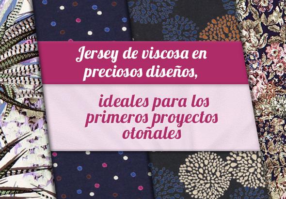 Novedades en telas.es: Gran selección de telas de jersey de viscosa en colores oscuros