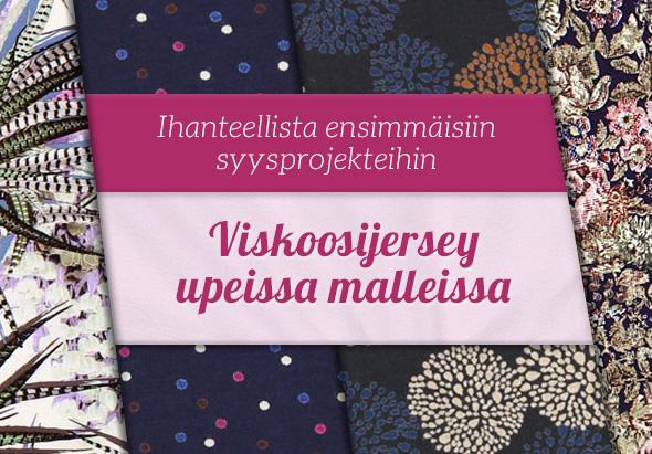 Uutta kankaita.comissa: Suuri valikoima viskoosijerseytä hillityissä väreissä