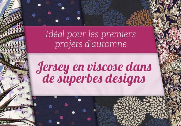 Nouveau sur tissus.net : Large sélection de jersey en viscose dans des couleurs douces
