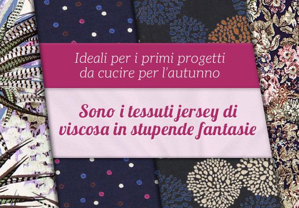 Novità su tessuti.com: Ampia scelta di tessuti jersey di viscosa in tonalità neutre