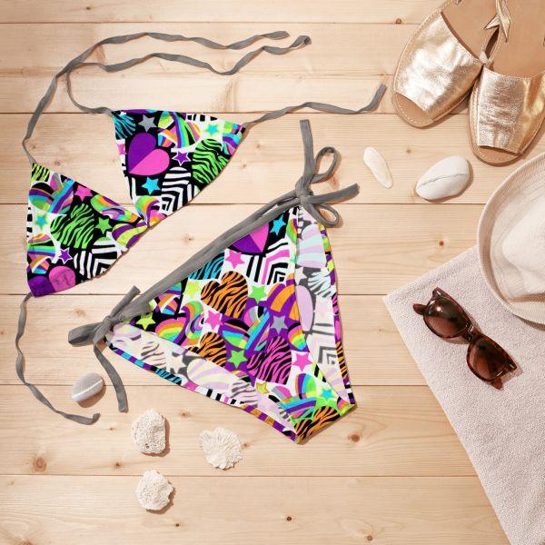Inspiration für den Sommer: Bikini selber nähen mit Badeanzugstoffen von stoffe.de