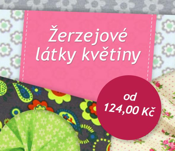 Oblíbené květinové motivy na žerzejovém materiálu, samozřejmě na latka.cz