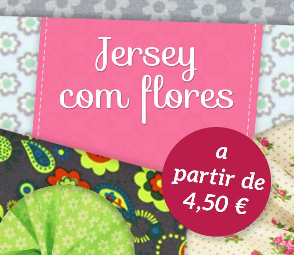Encantadores motivos florais na qualidade do Jersey- naturalmente na tecidos.com.pt
