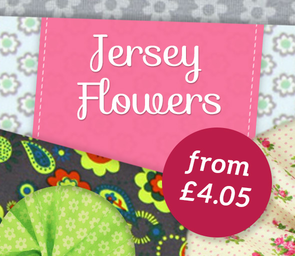 Popular floral motifs in jersey variants – at myfabrics.co.uk, of course