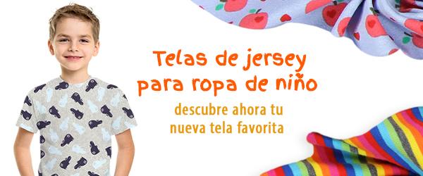 Telas de jersey para niños en telas.es